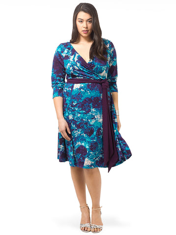 Neve Wrap Dress In Mystic Blue