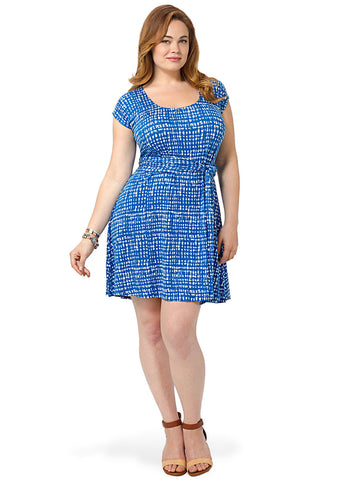 Lorna Dress In Mineral Gingham