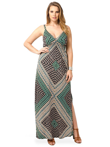 Crepe Maxi Dress In Nomad's Land