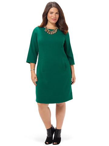 Shift Dress With Front Pockets