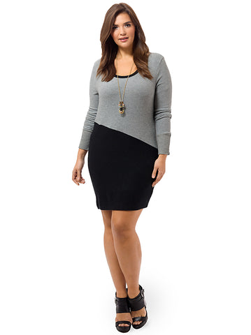 Brushed Sweater Crewneck Dress