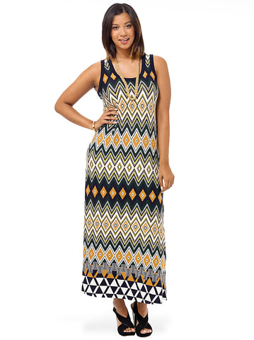 Egyptian Diamond Maxi Dress