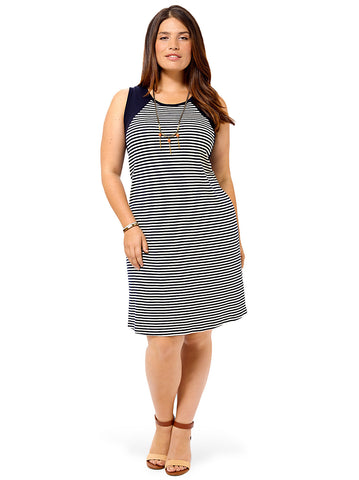Contrast Yoke Dress