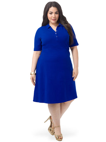 Fit & Flare Polo Dress