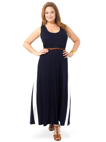 Side Insert Maxi Dress
