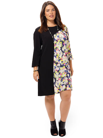 Cynthia Blocked Shift Dress