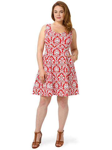 Brigitte Dress In Dandy Damask