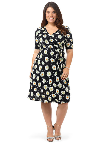 Fit & Flare Dress In Daisy