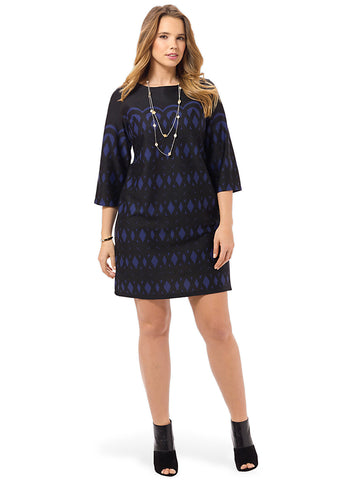 Ponte Printed Sheath Dress