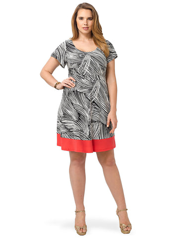 Adora Dress In Black & White Etching