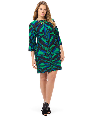 Emerald Printed Dress