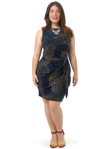 Diana Tie Dress In Confetti Print