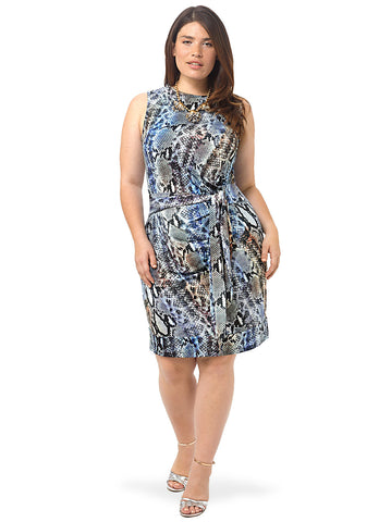 Diana Tie Dress In Snake Print