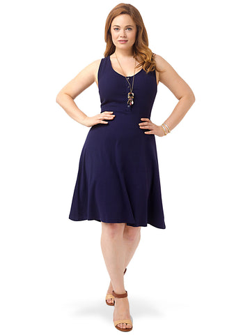 Henley Tank Dress In Evening Blue