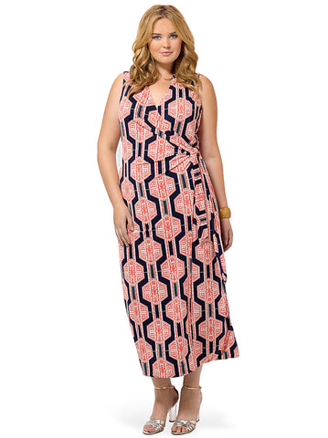 Printed Collared Maxi Dress