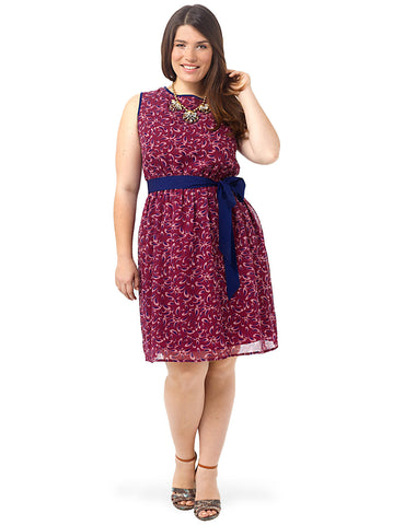 Mini Paisley Fit & Flare Dress