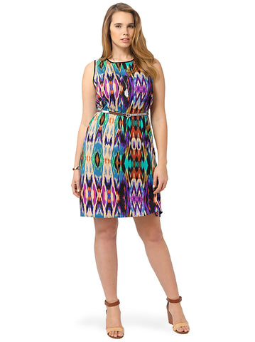 Sleeveless Printed Shift Dress