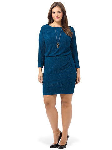 Blouson Dress In Venice Blue