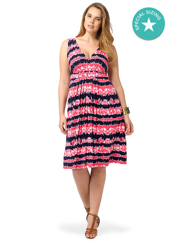 Chloe Dress In Tie Dye Stripe