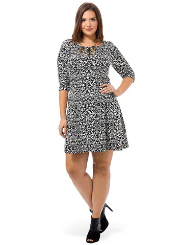Baroque Print Knitted Dress