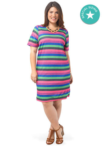 Multi Colored Shift Dress