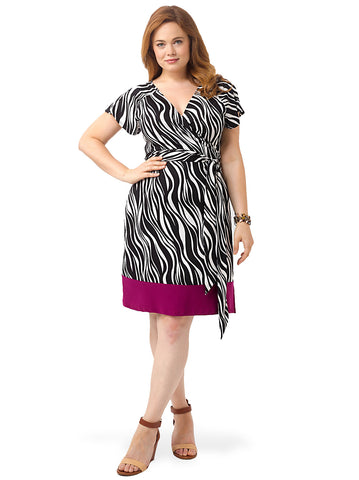 Geneva Wrap Dress In Zebra Print