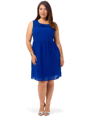 Cobalt Peter Pan Collar Dress