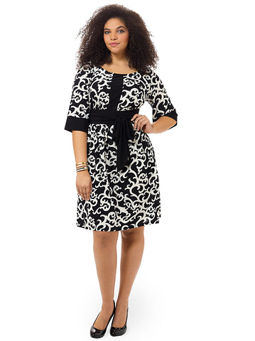 Francine Dress In Black & White