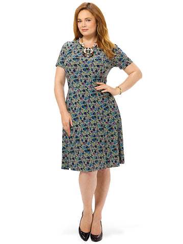 Posy Perennial Fit & Flare Dress