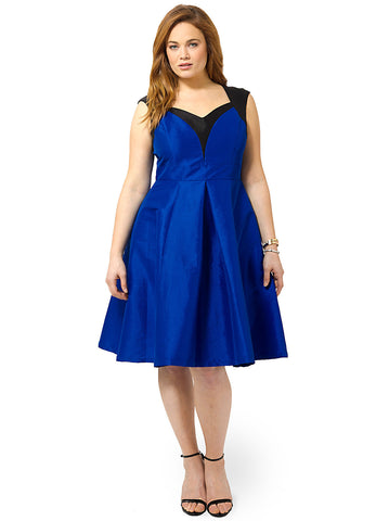 Dita Holiday Dress In Blue & Black