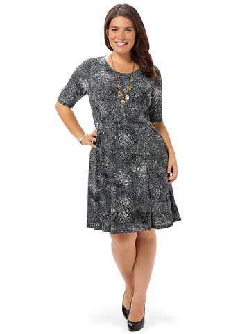 Eclipse Sketch Fit & Flare Dress