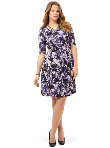 Deep Amethyst Fit & Flare Dress