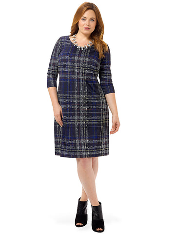 Tartan Plaid Printed Shift Dress