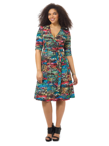 Essential Wrap Dress In Chameleon Print