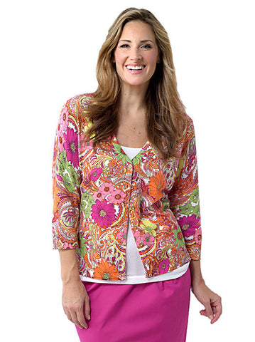 Floral Paisley Cardigan