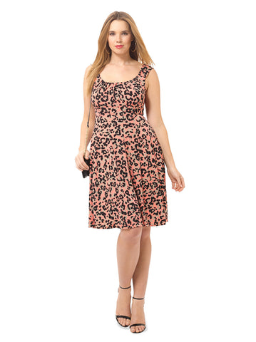 Animal Print Fit & Flare Dress