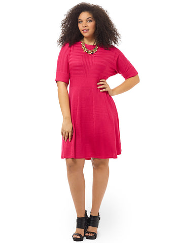 Fit & Flare Dress In Pink