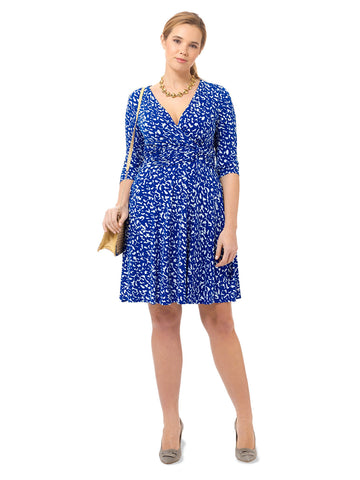 Printed Ruched Twist Waist Dress