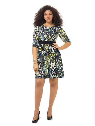 Painterly Print Chelsea Dress
