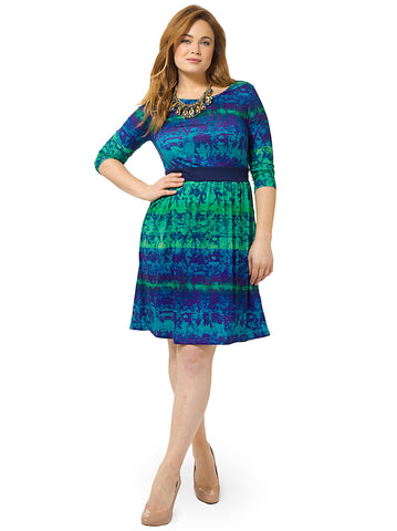 Blue Green Ombre Chelsea Dress