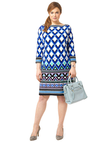 Triangle Patterned Shift Dress