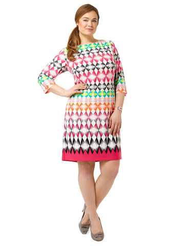 Shift Dress In Kaleidoscope Print