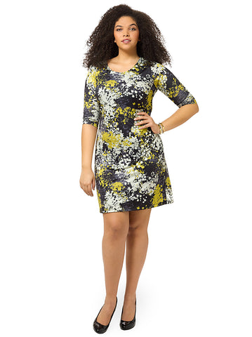 Monet Meadow Printed Shift Dress