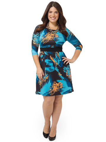 Bold Brushstroke Chelsea Dress