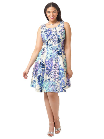 Fit & Flare Dress In Periwinkle