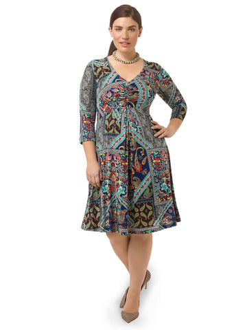 Spring Forward Dress In Paisley Print
