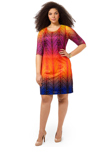 Colorful Prism Shift Dress