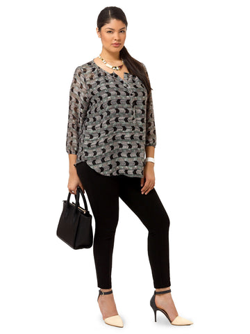 Livia Tunic In Slate Tower