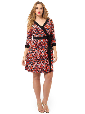 Socialite Dress In Multi Coral Print