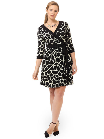 Socialite Dress In Black & Ivory
